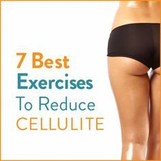 Try these 7 Cellulite busting exercises to  reduce the appearance of cellulite!We all hate it but there are a few things you can do about it! Strong leg muscles can help immensely!