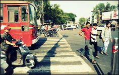 #Makeupurmind #Pune Give way to Pedestrians without yelling at them.