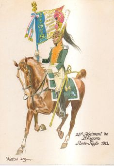 French; 25th Dragoons, Porte Aigle, 1812 by H.Knotel