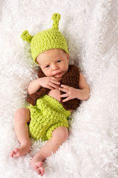 Adorable Shrek baby costume #Halloween #Costumes