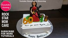Brilliant Photo of Rock Star Birthday Cake . Rock Star Birthday Cake How To Make Rock Star Mom Birthday Cake Designhomemade Bakery Cake Mom 60th Birthday Gift, Mother Birthday Cake, Happy Birthday Mummy, Birthday Cake For Mom, Birthday Cake With Photo, Birthday Nails, Buttercream Cake Designs, Queen Cakes, Cake Decorating Classes