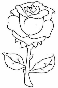 Rose Drawing Rose Drawings , but also Paintings and Prints Glass Painting Patterns, Glass Painting Designs, Paint Designs, Fabric Painting, Painting Flowers, Hair Painting, Rose Coloring Pages, Coloring Pages For Girls, Coloring Books