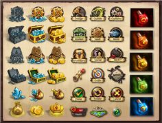 Icons for 'Kingdom of Heroes' by ~nasar-ullah-khan on deviantART