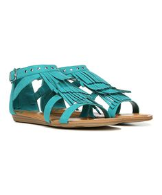 Love this FERGALICIOUS BY FERGIE Turquoise Dusty Sandal by FERGALICIOUS BY FERGIE on #zulily! #zulilyfinds