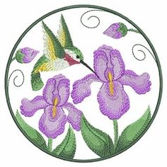 Watercolor Hummingbird and Flowers Set, 10 Designs - 3 Sizes! | Floral - Flowers | Machine Embroidery Designs | SWAKembroidery.com
