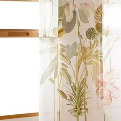 Zara Home New Collection Linen Curtains, Printed Curtains, Printed Linen, Botanical Bedroom, Zara Home España, Botanical Prints, Home Furnishings, Home Accessories, Bedroom Ideas
