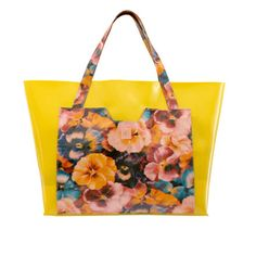 This fabulous yellow plastic shopper is your ultimate summer accessory, perfect during the day and at the beach. Available from LoveFromCyprus.com