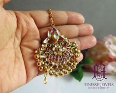 Indian Kundan Tikka Gold Maang Tikka Kundan Jewelry
