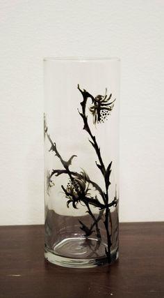 Large Thistle Vase by AddlepatedPainter on Etsy