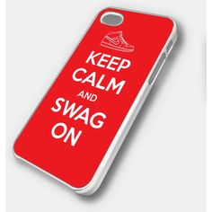 keep calm and swag on nike - iPhone 4 Case, iPhone 4s Case and iPhone... ($15) ❤ liked on Polyvore