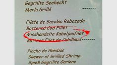 Gefunden auf Mallorca Grilled Shrimp, Cover, Books, Wonderland, Stupid, Menu Cards, Majorca, Deutsch, Cooking