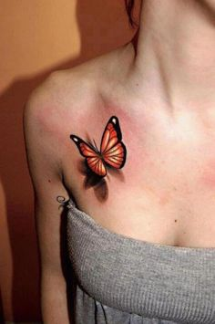 3D Butterfly Tattoo Ideas for Sexy Teenagers