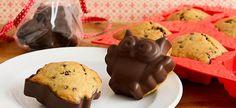 Bananen und Schokolade waren schon immer eine himmlische Verbindung und diese Muffins sindkeine Ausnahme.