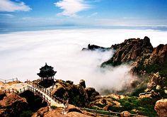The marvelous sea of clouds of Laoshan Mountain,Qingdao