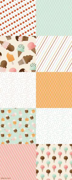 I Heart Ice Cream Digital Patterns | k.becca