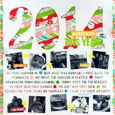 2014 #layout by Ali Stewart #Chickaniddy Crafts #scrapbook