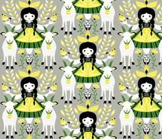 goat fabric by gaiamarfurt on Spoonflower - custom fabric