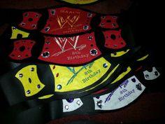 Wwe belts party favors ideas