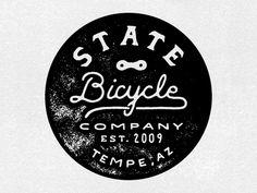 State Bicycle Stamp   #logo #design #inspiration