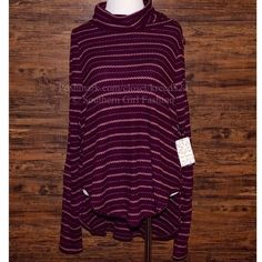 FREE PEOPLE Top Loose Knit Layering Turtleneck Tee Available Sizes: XS, M, L. New with tags. $78 Retail + Tax.  • Incredibly soft ribbed cowl neck waffle thermal sweater featuring striped detailing, stretchy silhouette and ribbed fabric. • High low rounded hen with side slits & light raw trim. • Rayon, spandex. • Measurements provided in comment(s) section below.   {Southern Girl Fashion - Closet Policy}   ✔️ Same-Business-Day Shipping (10am CT). ✔️ Reasonable best offer considered when…