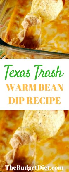 Texas Trash Warm Bean Dip Recipe   The Best Super Bowl - Or to Any Party Dip Recipe