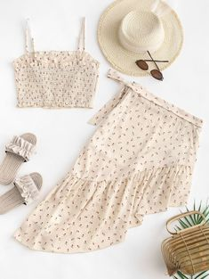 Two Piece Outfits Girls Fashion Clothes, Teen Fashion Outfits, Girly Outfits, Look Fashion, Diy Fashion, Ideias Fashion, Cute Summer Outfits, Cute Casual Outfits, Stylish Outfits