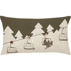 Ski Lodge Shades Pillow  at Joss and Main