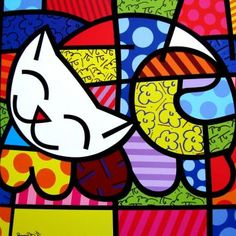 Happy Cat by Romero Britto.