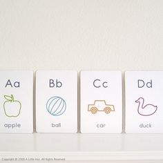 printable flash cards - it's so hard to find simple flash cards, i never thought to make them before!