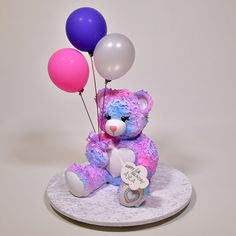 NEW TUTORIAL: Colourful 3D Teddy Bear Cake -