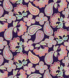Keepsake Calico Cotton Fabric- Paisley Purple