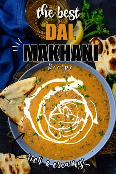 Restaurant Style Dal Makhani Recipe is a creamy, rich and flavorful lentil dish made using whole black lentil and mild spices. Makhani Recipes, Paratha Recipes, Paneer Recipes, Lentil Recipes, Veg Recipes, Curry Recipes, Lunch Recipes, Indian Food Recipes, Asian Recipes
