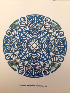Mandala in slechts 2 tinten blauw