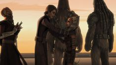 Anakin & Ahsoka seeing each other after a while - Star Wars: The Clone Wars 3x22