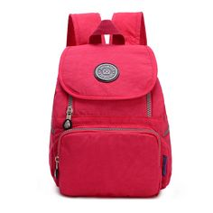 16 Colors! Fashion Casual Mini Women Daily Backpack Floral Good Quality Ripstop Small Waterproof Nylon Backpacks for Girls