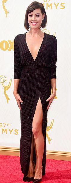 Emmys 2015 best dressed: Aubrey Plaza in a sequined Alexandre Vauthier dress
