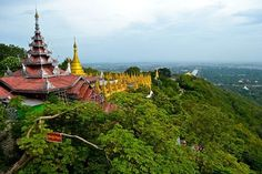 Climbing Mandalay Hill for a panoramic view of the area is a great experience, particularly at sunrise or sunset.