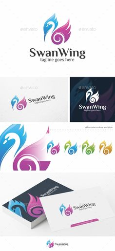 Swan Wing  Logo Template — Vector EPS #flying #creative • Available here → https://graphicriver.net/item/swan-wing-logo-template/18049267?ref=pxcr