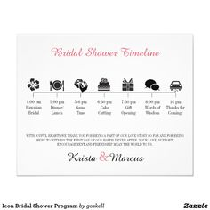 Bridal Shower Itinerary Template  Around The World Bridal Shower