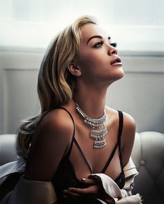 Getting her closeup, Rita Ora poses in Loewe coat, Tezenis bra and Messika necklace for S Moda Magazine November 2016 issue