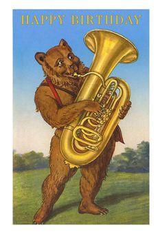 Bear and tuba