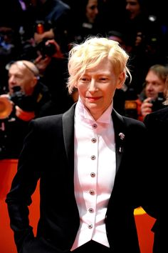 Tilda Swinton, FLAWLESS in Chanel at the 2018 Berlinale International Film Festival | Tom + Lorenzo