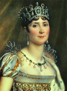 Joséphine de Beauharnais (1763 - 1814). Empress of the French from 1804 to 1814. Queen of Italy from 1805 to 1814. She married Napoleon I but had no children. She and Napoleon divorced in 1810 due to her no being able to have children, but she was allowed to keep the title of Empress and remained good friends with him.