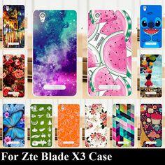 Para zte blade x3 case cubierta de plástico duro del teléfono móvil diy color paitn bolso del teléfono móvil shell envío gratis