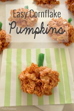 These easy cornflake pumpkins are not only adorable but they are super easy and delicious too!