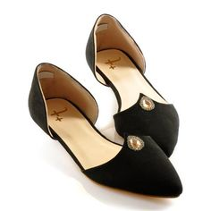 1f095b5a13c Elegant Style Women s Flat Shoes With Rhinestones and Suede Design