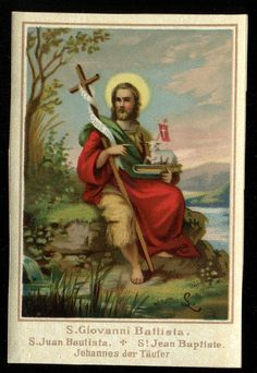 Vintage st giovanni battista holy card 'VISIT MY STORE'