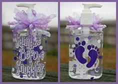 Sanitize Before Snuggles Hand Sanitizer - Baby Gift, Shower Gift, New Mom Gift on Wanelo
