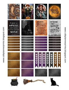 Please comment below if you are using! The more comments and downloads the more free printables I create!       *HOCUS POCUS*