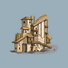 모래마을 건물  #art #artwork #architecture #design #illustration #photoshop #cs6 #그림 #fantasy #conceptart #landscape #game #gameart #perspective #배경원화 #지제이#painting #color #minimal